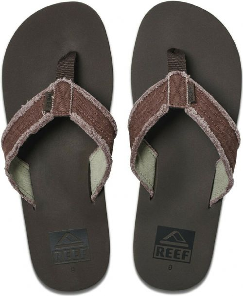 REEF MENS FLIP FLOPS.NEW TWINPIN FRAY ARCH SUPPORT BROWN THONGS SANDALS 9S 30